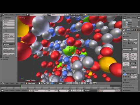 Blender Tutorial - Importing a Molecule Using the Protein Data Bank Add On, Making a DNA Animation