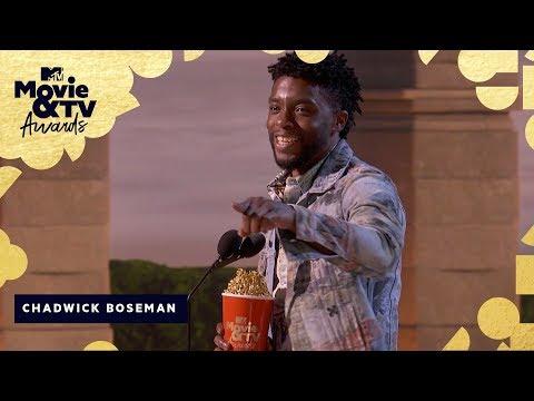 Chadwick Boseman Wins Best Hero & Honors James Shaw Jr. | 2018 MTV Movie & TV Awards