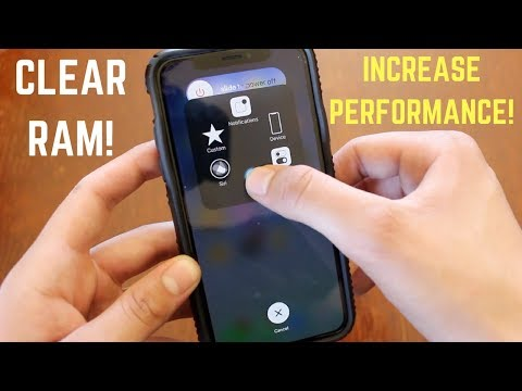 How To Clear RAM on iPhone X! (Increase Performance)