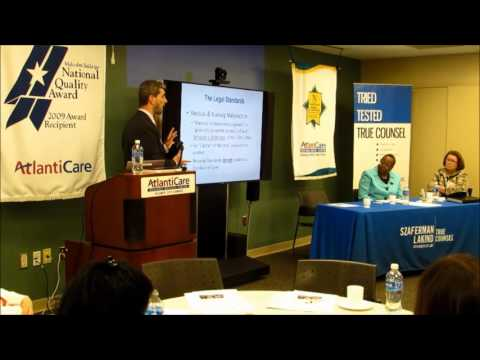 Attorney and Registered Nurse, Keith Hovey, presents to N.J. State Nurses Association