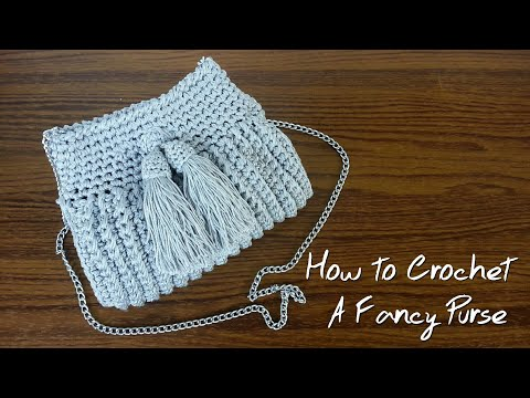Crocheted Fancy Purse with Tassel