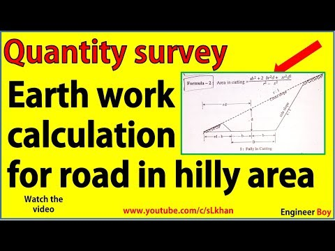 Quantity survey: Earth work for road in hilly area - SL KHAN - civil engineering