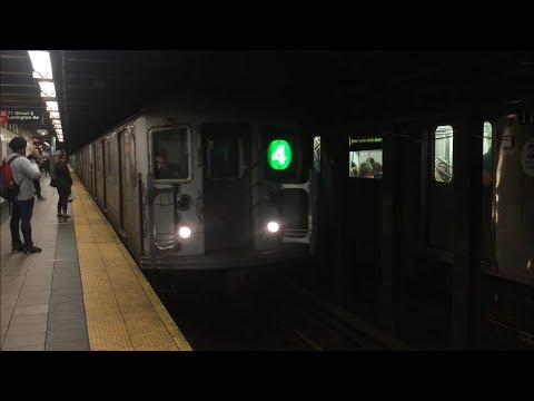 IRT Lexington Ave Line: Uptown and Downtown (4) and (5) Local Trains @ 77th St (R62, R142, R142A)
