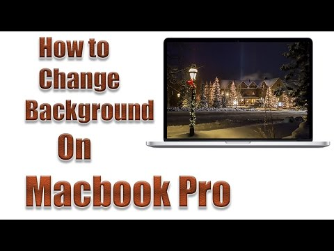 How to Change Macbook Pro Background 2016