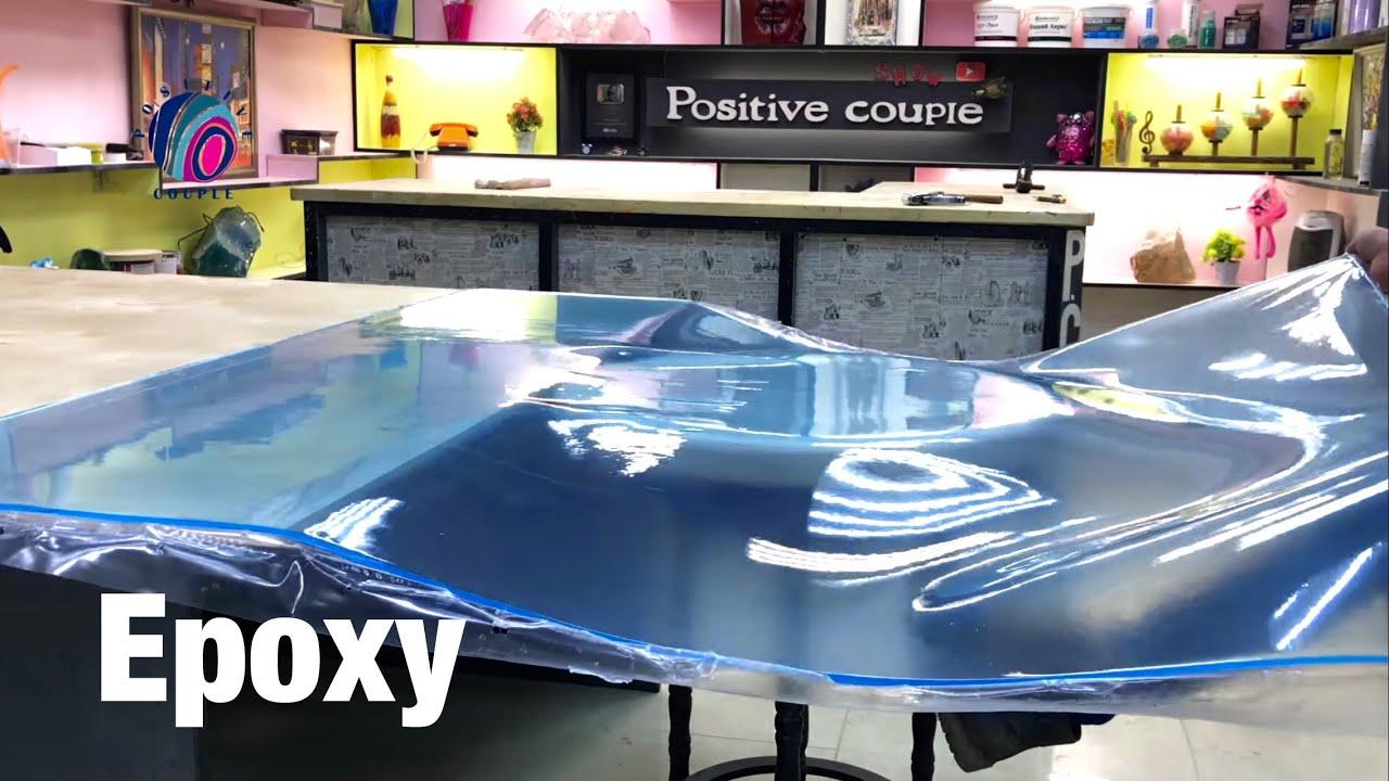 Ice Table of Bent Epoxy Resin! Ледяной Стол из гнутой Эпоксидной смолы.