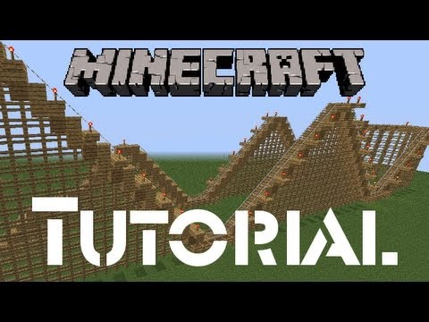 Minecraft Tutorial: How to Build a Wooden Rollercoaster