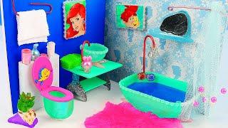 DIY Miniature Ariel Twin Bedroom and Bathroom ~ Mermaid Dollhouse
