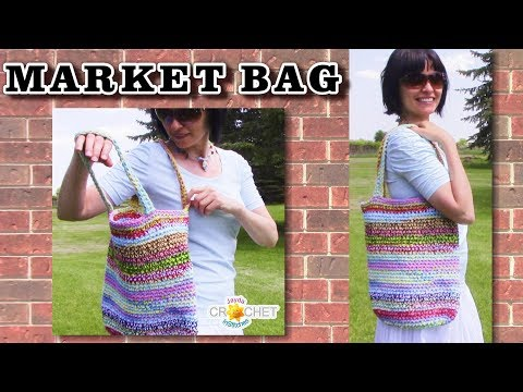 Happy Scrappy Market Bag - Reusable Shopping Bag Tutorial