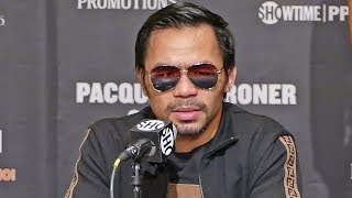 Manny Pacquiao POST FIGHT PRESS CONFERENCE vs. Adrien Broner | ShowTime Boxing
