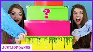 Mystery Box Slime Ingredient Challenge / JustJordan33