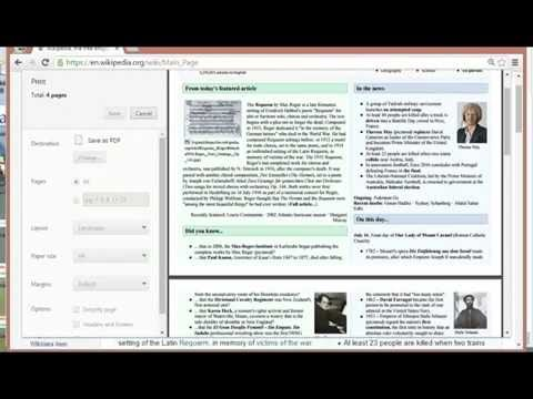 How To Save Webpages as PDF Files With Google Chrome Browser