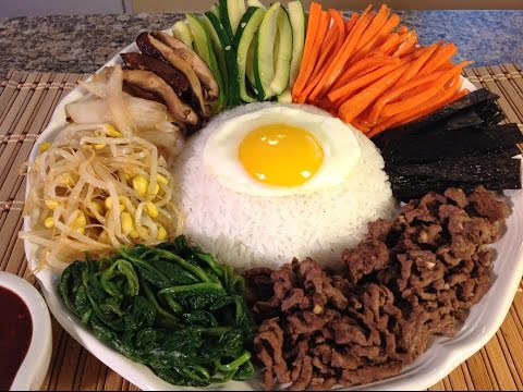 How To Cook Bibimbap-Rice Vegetables-Korean Food Recipes