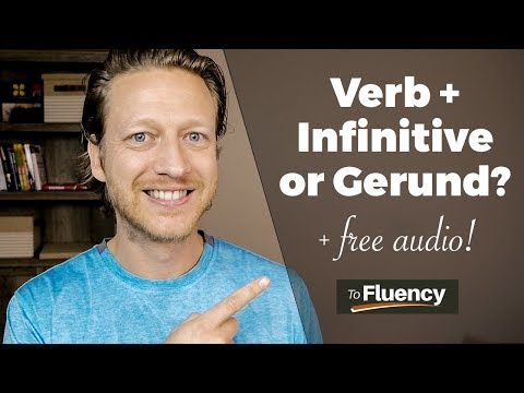 VERB + INFINITIVE or GERUND? LEARN ENGLISH VERB PATTERNS & GET 35 ENGLISH PHRASES (FREE AUDIO!)