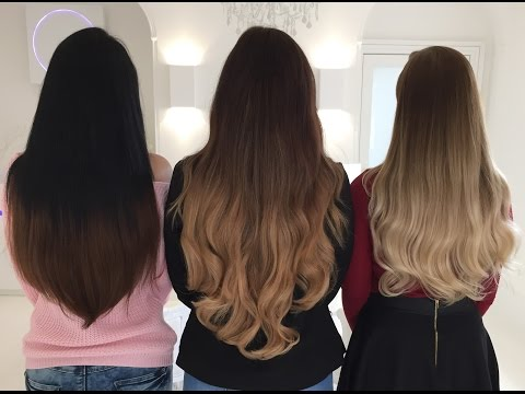 Ombre Clip In Hair Extensions ~ Foxy Locks Ombre Shades