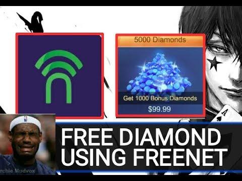 Get free Diamond in Mobile Legend Using Freenet app full tutorial legit