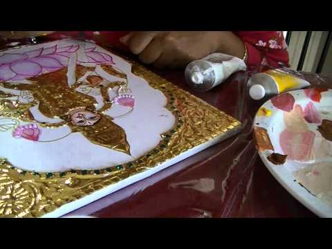 Learn tanjore painting-part4