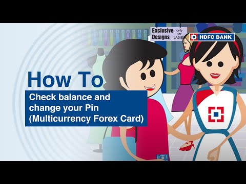 How to check balance and change PIN of your Multicurrency ForexPlus Card