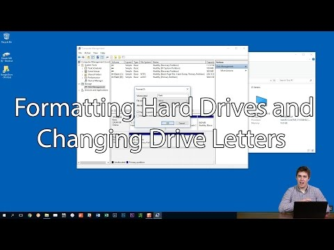 Formatting Hard Drives and Changing Drive Letters in Windows 10