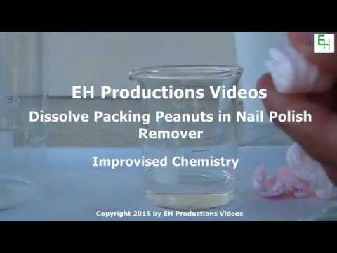 How to Dissolve Packaging Peanuts in Nail Polish Remover
