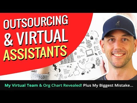 Outsourcing & Virtual Assistants - My Virtual Team & Org Chart Revealed! Plus My Biggest Mistake...