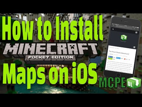 How to Install Minecraft Maps iOS | FREE - No Jailbreak - No computer