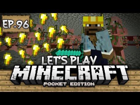 Survival Let's Play Ep. 96 - NAMETAGS & GOLD PIGMAN FARM!!! - Minecraft PE (Pocket Edition)