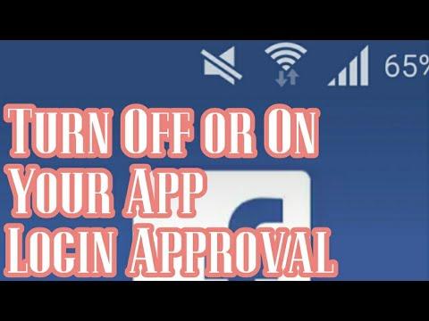 Facebook Turn on/off Login Approval