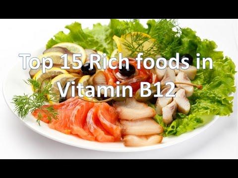 Top 15 rich foods in Vitamin B12