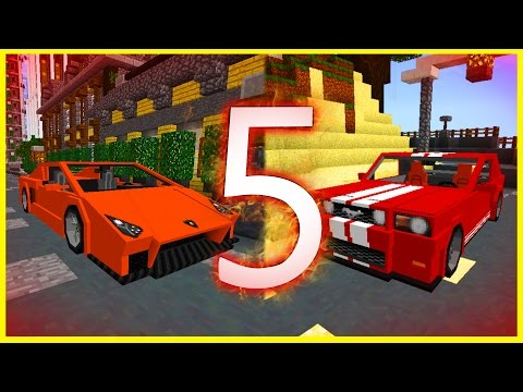Minecraft PE Addons - TOP 5 BEST CAR ADDONS! iOS & Android - MCPE 1.1 / 1.0.8