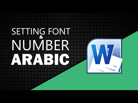 Microsoft Word 2010 Setting Font and Number Arabic