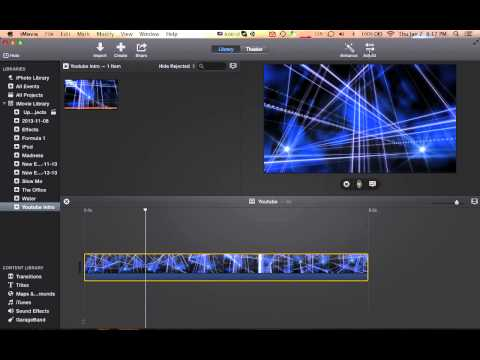How to make a Movie Black and White in iMovie 10 (2013)