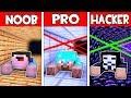 Minecraft NOOB Vs PRO Vs HACKER FAMILY SECRET PRISON ESCAPE In Minecraft Animation