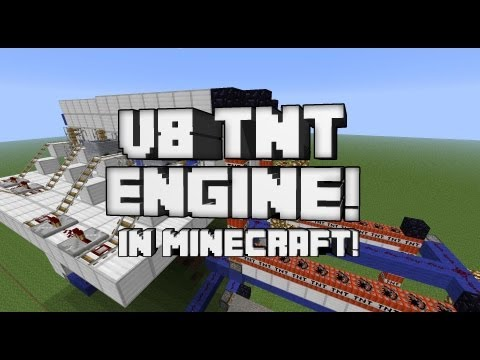 V8 TNT Combustion Engine in Minecraft!