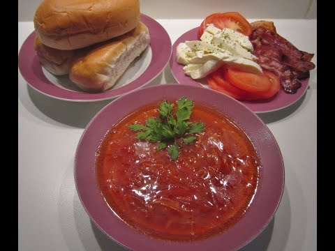Authentic Russian Beet Soup Recipe Borscht (Борщ).