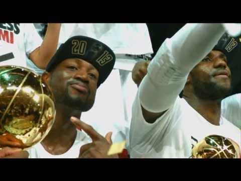 Heat BIG 3 Celebrate Their Second NBA Championship