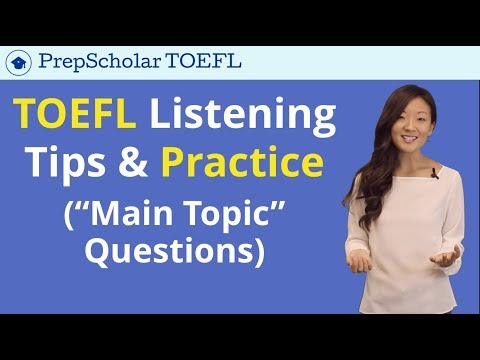 TOEFL Listening | Tips and Practice for