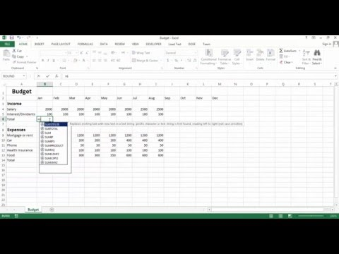 Excel Budget - Create your own budget sheet