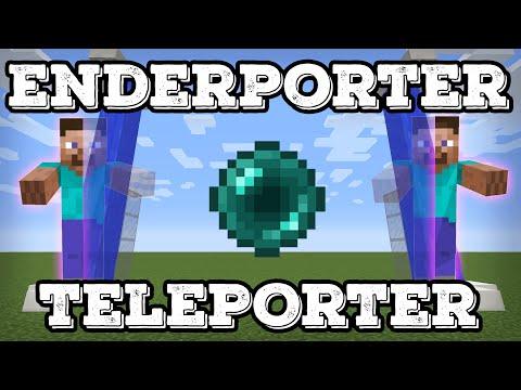 Minecraft Tutorial - Improved EnderPorter - Ender Pearl Teleporter(Minecraft 1.12+)