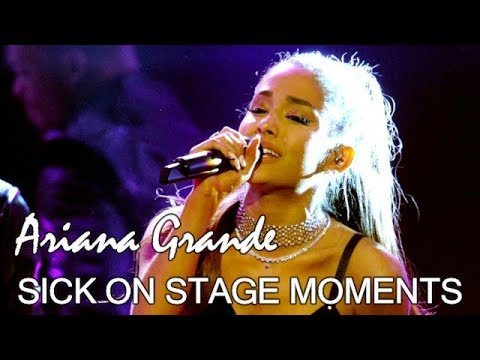 Ariana Grande Performing While SICK (No One Knew She Was IN HALF OF THE VIDEOS)