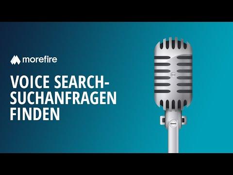 Voice Search-Suchanfragen einfach identifizieren | morefire
