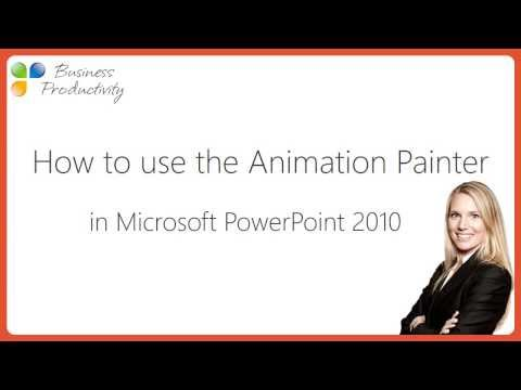 How to use the animation painter in Microsoft PowerPoint 2010