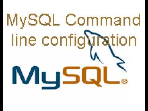MySQL command line configuration in linux