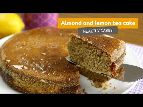 Almond and lemon TEA CAKE • Healthy cakes #6