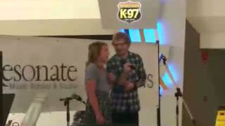 Ed surprises fan singing thinking out loud
