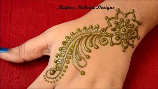 latest  stylish henna mehndi designs for hands|latest arabic mehandi design tutorials