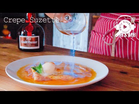 [ASMR・Gluten Free] Crepe Suzette ~ グルテンフリーのクレープシュゼットの作り方 【料理レシピはParty Kitchen🎉】