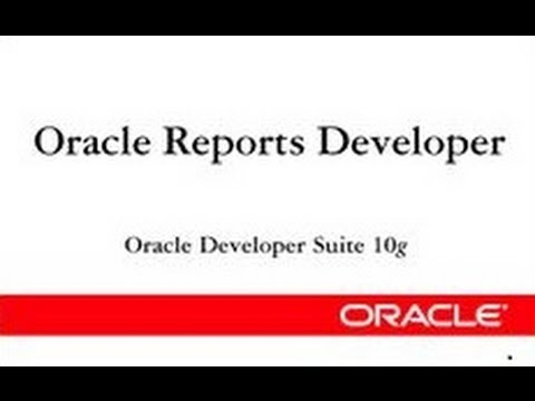 Oracle Reports 10g: Matrix Reports | Matrix Reports with Summary | Matrix Report with Group