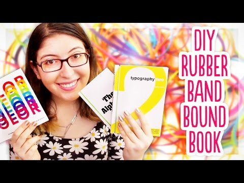 How to Bind a Book with a Rubber Band | Bookbinding Tutorial by @karenkavett