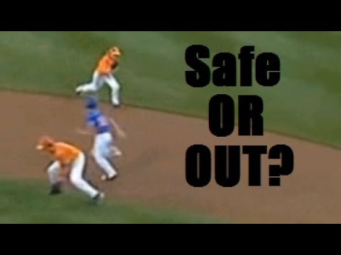 Batted ball hits runner - safe or out? You make the call.