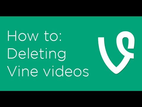How to delete Vine videos